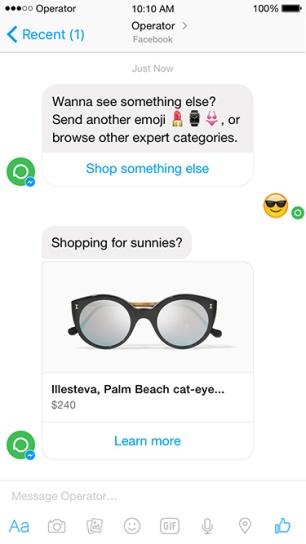 dialogue avec un bot sur mobile