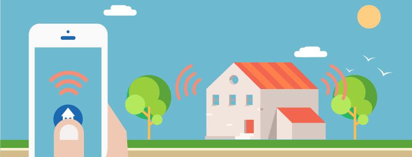 image à la une infographie maisons connectées