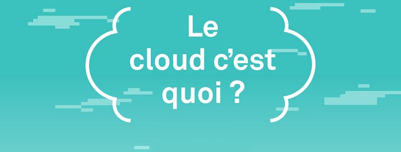 Bannière de l'infographie sur le cloud