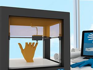 Photo d'un objet 3D en cours de fabrication