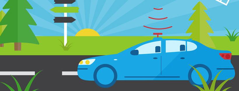 Bandeau illustrant une voiture autonome