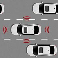 illustration de voitures connectées