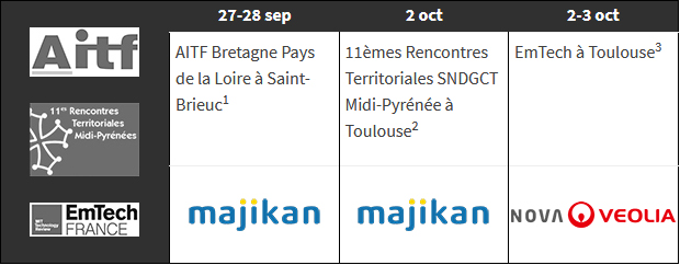 evenements octobre